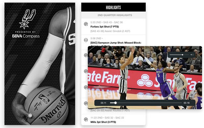 As the Spurs heads down the stretch of the NBA season and into the playoffs, San Antonio fans attending home games at AT&T Center will be able to rewatch every dramatic dunk or clutch three-pointer via the new On-Demand Replays section within the club's all-new mobile app.