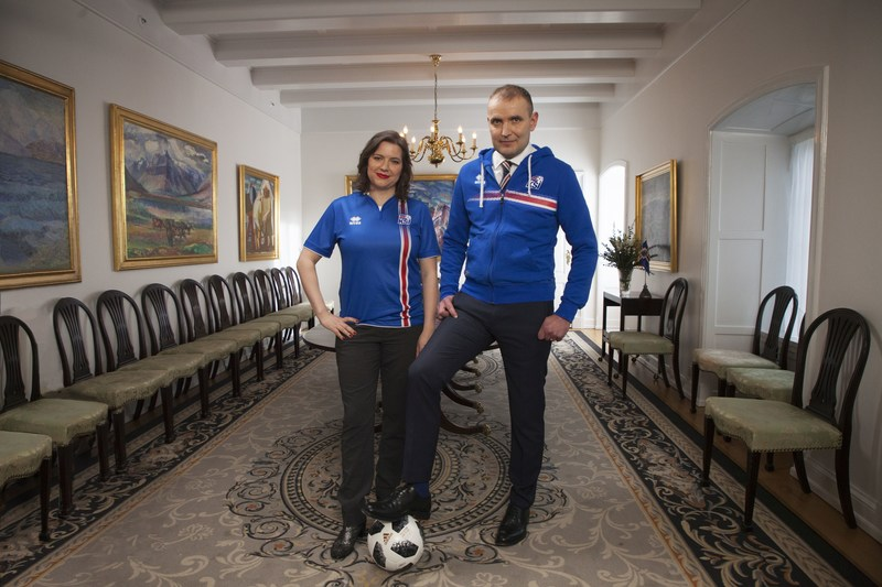 The Icelandic President and First Lady invite the world to support the nation's football team, when Iceland make their World Cup debut later this year. (PRNewsfoto/Inspired by Iceland)