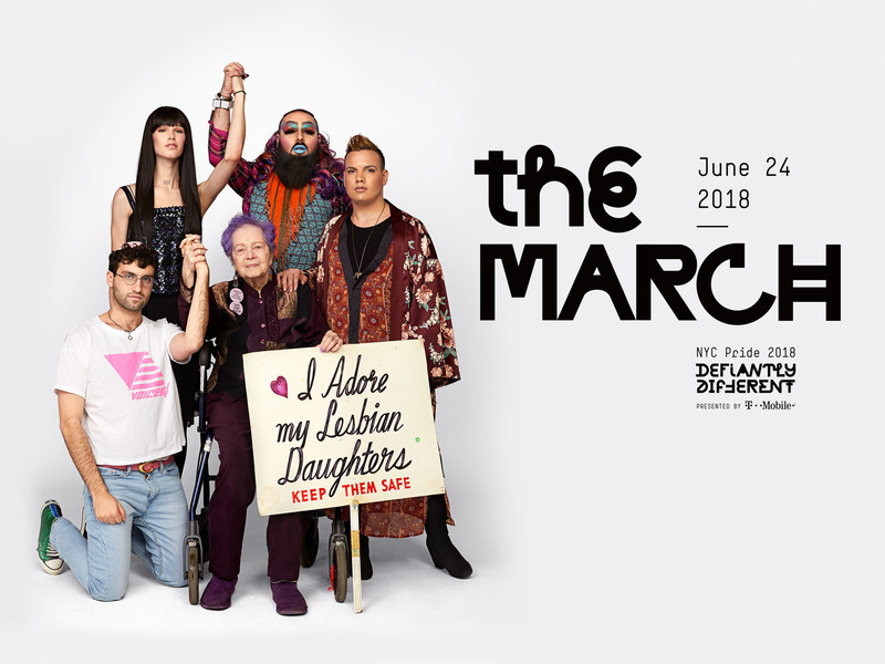 NYC Pride announces its four Grand Marshals slated to lead the 49th NYC Pride March on Sunday, June 24, 2018: Billie Jean King, Lambda Legal, Tyler Ford, and Kenita Placide