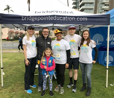 Bridgepoint Education employees and family members at the 8th annual Finish Chelsea's Run 5K Run/Walk