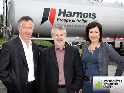 Serge, Luc et Claudine Harnois - Actionnaires de Harnois Groupe pétrolier (Groupe CNW/Harnois Groupe pétrolier)