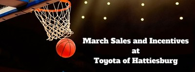 Car buyers in the Hattiebsurg area can save on their favorite Toyota models this spring at Toyota of Hattiesburg during the March Markdown Sales Event that includes budget-friendly lease and finance incentives.