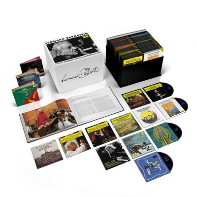 Deutsche Grammophon/UMe marks the Leonard Bernstein centenary (born August 25, 1918) in suitably monumental style. For the first time, Bernstein's complete works will be available on CD in a single boxed set, as will his legacy as a conductor. In addition there will be a series of spectacular new releases and reissues reflecting some of the many high points of this multifaceted musician's rich and varied career.