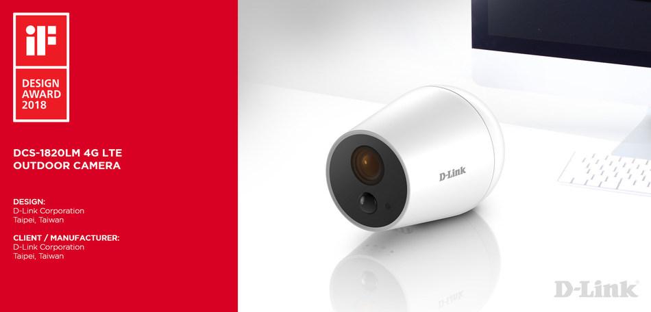 DCS-1820LM 4G LTE Outdoor Camera (PRNewsfoto/D-Link)