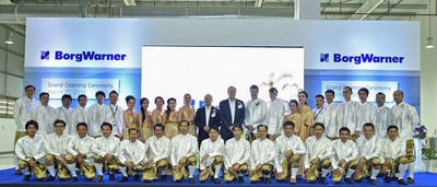 BorgWarner employees and executives celebrated the grand opening of the new turbocharger production facility in Rayong.