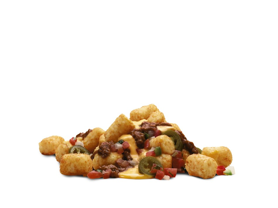 Taters, meet nachos. 7-Eleven Tots, the newest hot food available at participating 7-Eleven® stores has a distinct advantage over other tater tots – 7-Eleven's condiment and toppings bar.