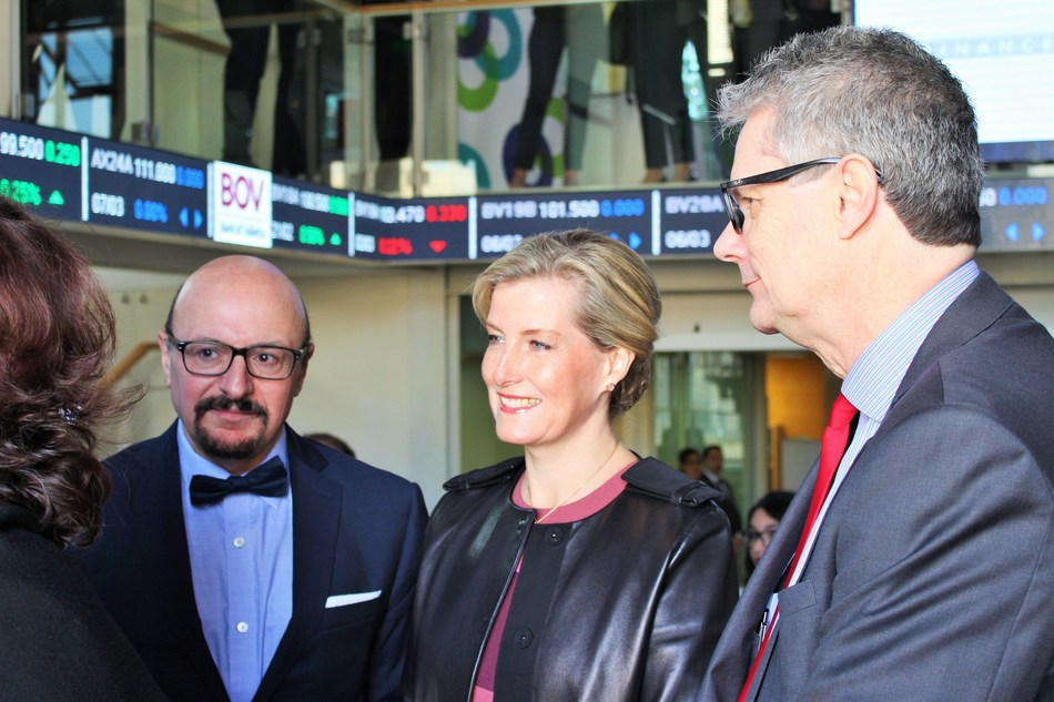 The Countess of Wessex at the Malta Stock Exchange (PRNewsfoto/Malta Stock Exchange plc)