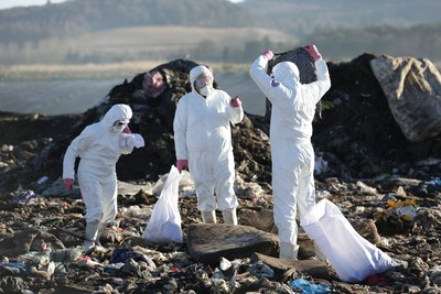 Vanish Team on Landfill (PRNewsfoto/Vanish)