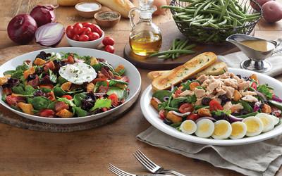 Mimi's Cafe's Lyonnaise Salad and Niçoise Salad