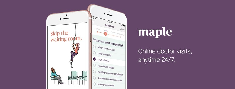 Maple raises $4 million in funding to advance virtual healthcare in Canada (CNW Group/Maple)
