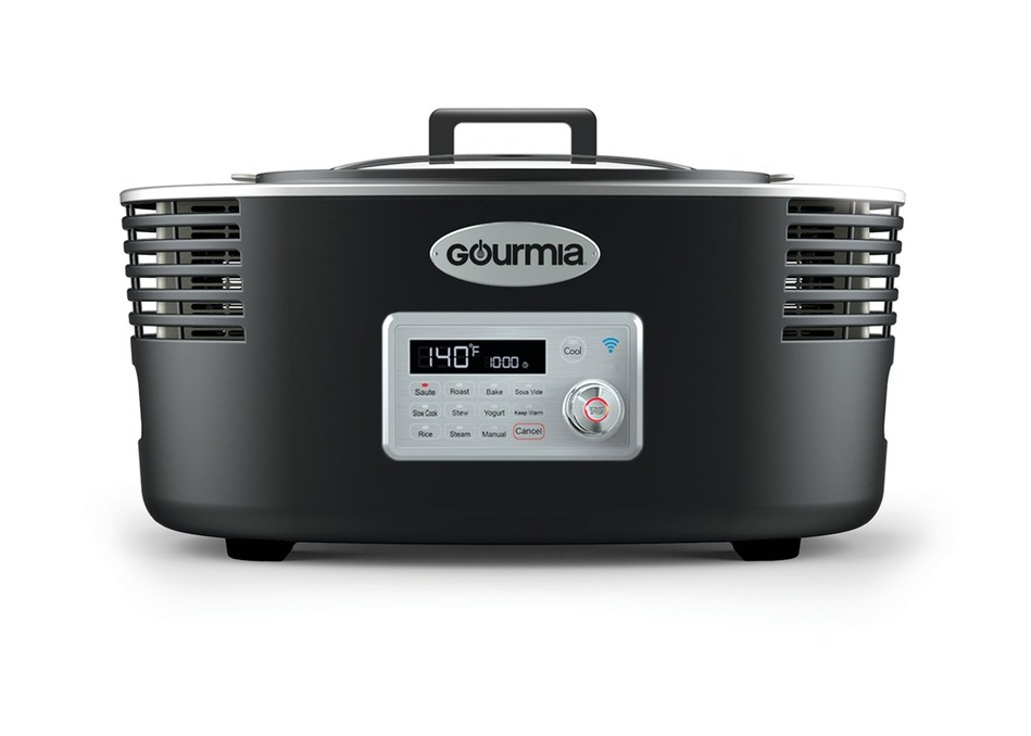 Gourmia's new IoT Cool-Cooker allows busy cooks to put the ingredients into it in the morning and the unit keeps the food cold until it starts cooking when you tell it to! It is compatible with both Google Assistant and Amazon Alexa, and features AI that allows it to learn users' cooking preferences. The Cool-Cooker can be controlled by Gourmia's mobile app, users can delay the start of cooking if they are running late at work — or start it cooking earlier.