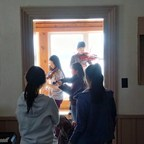 Campers practice the violin at Dixon Hall Music School's March Break camp at Hart House Farm in 2017. This year's camp program includes a special learning component around the Syrian refugee crisis, and connects campers with Syrian refugees living in Jordan who also study music. (CNW Group/Dixon Hall Neighbourhood Services)