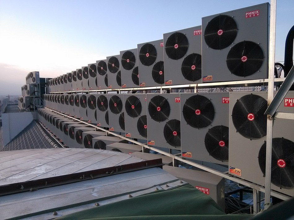 The applications of PHNIX house heating heat pump in China