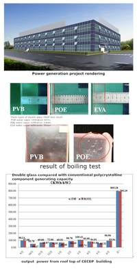 Unique material of PVB applied to CECEP double glass PV modules