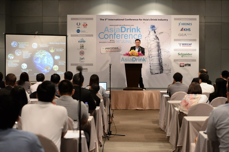 Delegates from beverage industry across Asia attend the Asia Drink Conference to listen on the beverage industry trends