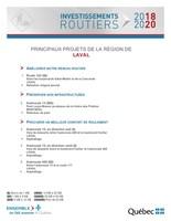 Principaux projets de la région de Laval (Groupe CNW/Cabinet du ministre des Transports, de la Mobilité durable et de l'Électrification des transports)