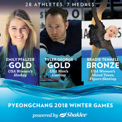 Shaklee Pure Performance Team athletes win 7 medals in PyeongChang.