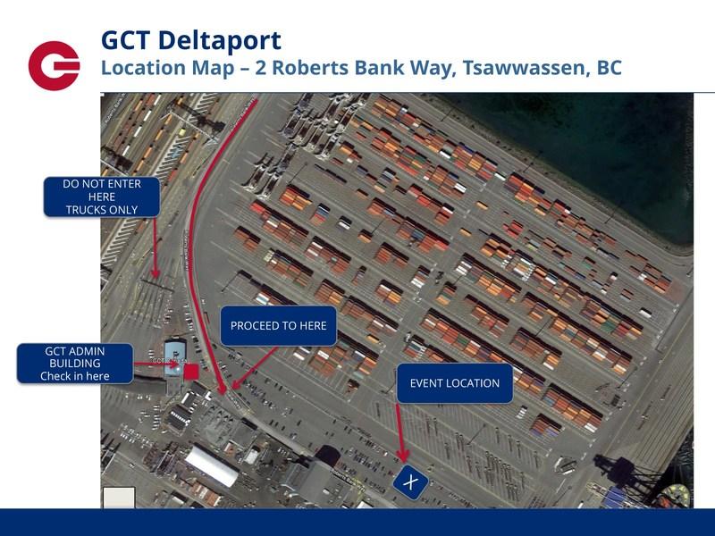 Location Map - 2 Roberts Bank Way, Tsawwassen, BC (CNW Group/Transport Canada)