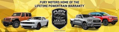 Fury Motors is now home to a complimentary Lifetime Powertrain Warranty available on most new and used vehicle purchases.
