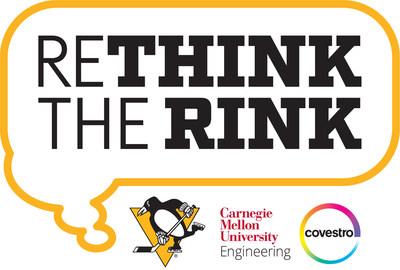 """O Pittsburgh Penguins, a Covestro e a Faculdade de Engenharia da Carnegie Mellon University juntam forças para """"repensar o rinque""""."""