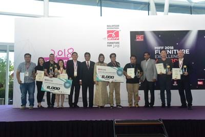 MIFF 2018 Furniture Excellence Award Winners and VIPs (PRNewsfoto/UBM Asia (Malaysia))