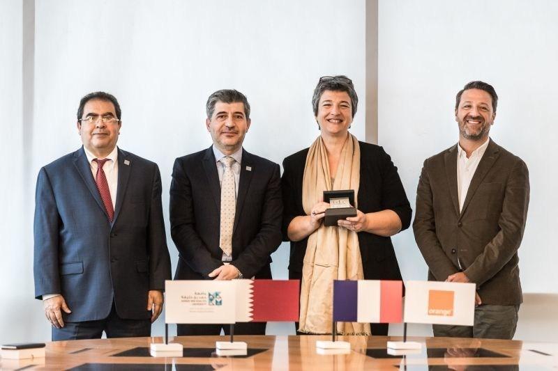 HBKU and Orange Business Services signed a MoU at a ceremony held at Orange headquarters in Paris, France (PRNewsfoto/HBKU & Orange Business Services)