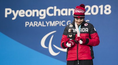 Alana Ramsay picked up a bronze medal in the Super-G on Sunday, her first Paralympic medal PHOTO: CANADIAN PARALYMPIC COMMITTEE (CNW Group/Canadian Paralympic Committee (Sponsorships))