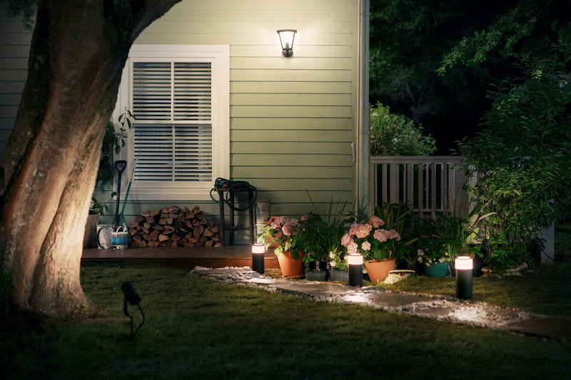 Extend your Philips Hue smart lighting system with new line of outdoor products, available for purchase this summer