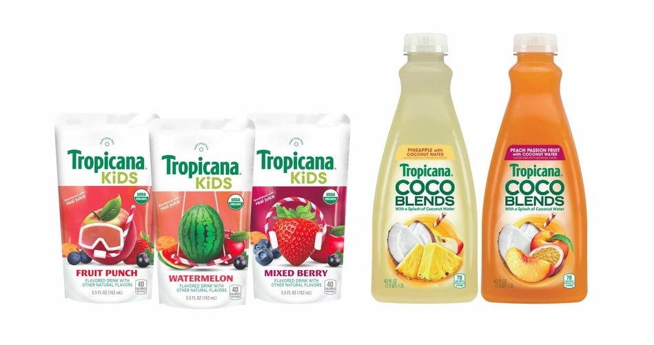 Tropicana introduces its newest product innovations: Tropicana Kids and Tropicana Coco Blends.