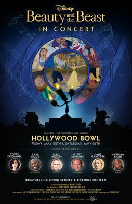 Beauty and the Beast Hollywood Bowl artwork