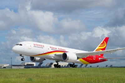 Hainan Airlines' London-Changsha route is serviced by a Boeing 787 Dreamliner