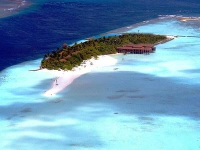 Seaplane view of Ranveli Island Resort