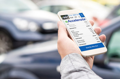 Mobile parking app on smartphone screen. Man holding smart phone with car park application in hand.
