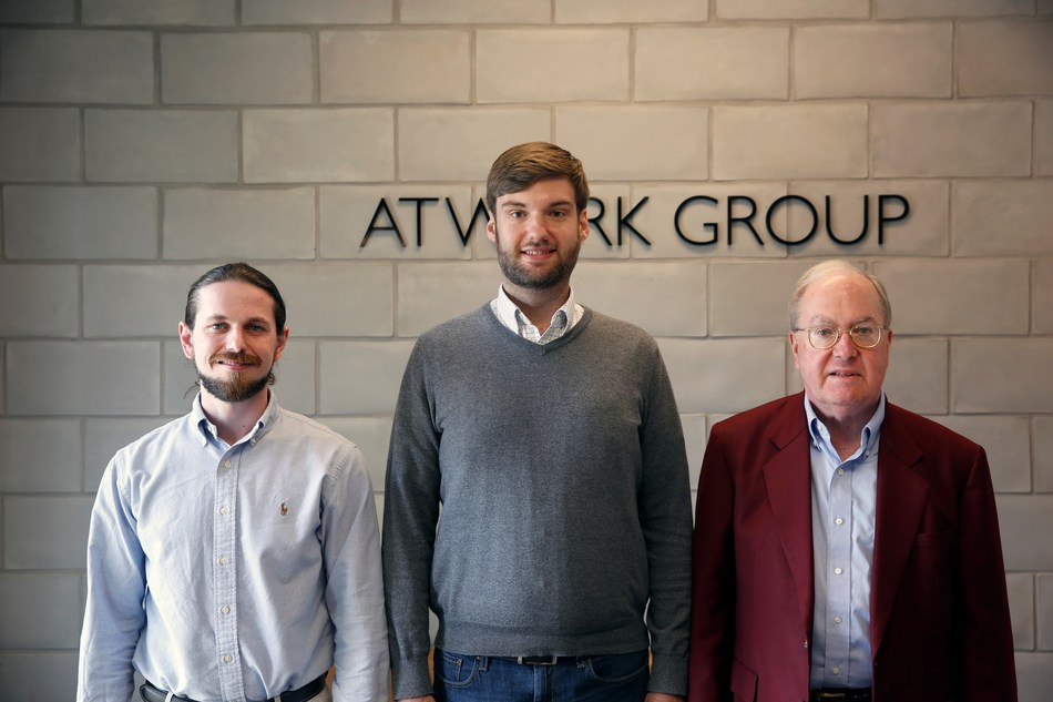 AtWork Group opened a new office in the greater Birmingham area: Left to right are Kyle McNair, Josh Bullock (partner) and Jim Dorroh (partner).