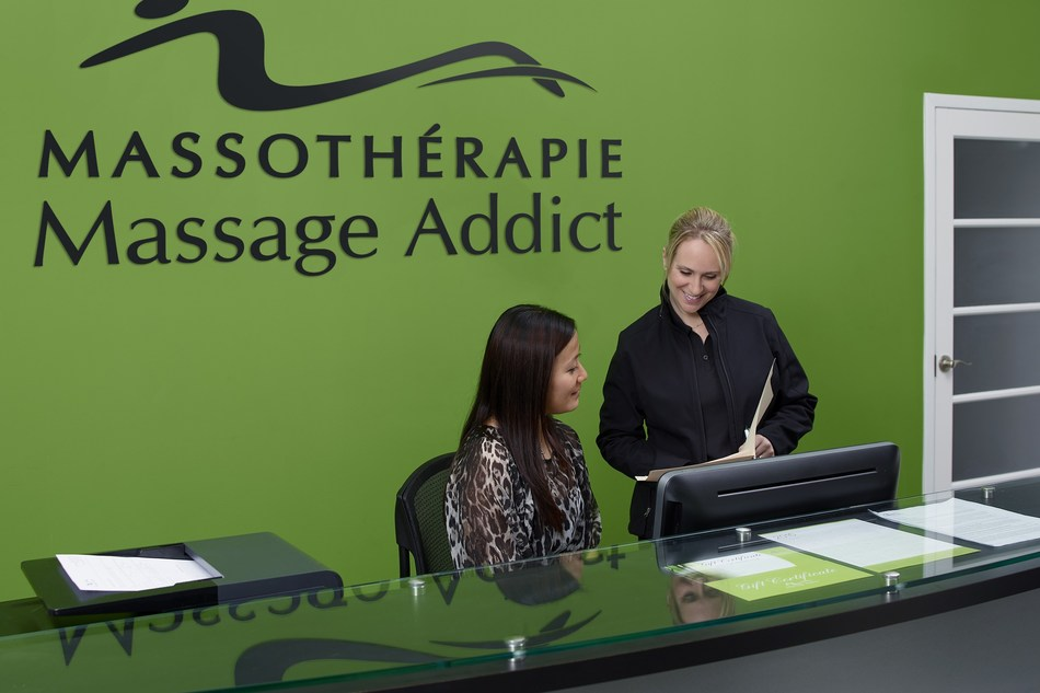 Massage à Montréal : La première clinique de Massothérapie Massage Addict au Québec est la 80e au Canada. (Groupe CNW/Massage Addict)