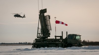 TPS-77 MRR taken in Ventspils, Latvia, during Site Acceptance Test. Courtesy 22nd Mobile Public Affairs Detachment