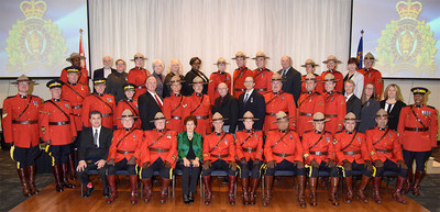 To honour all those actions that make up a long career of exemplary service and good conduct, RCMP Long Service Awards were presented to 43 recipients in Milton, Ontario. (CNW Group/Royal Canadian Mounted Police)