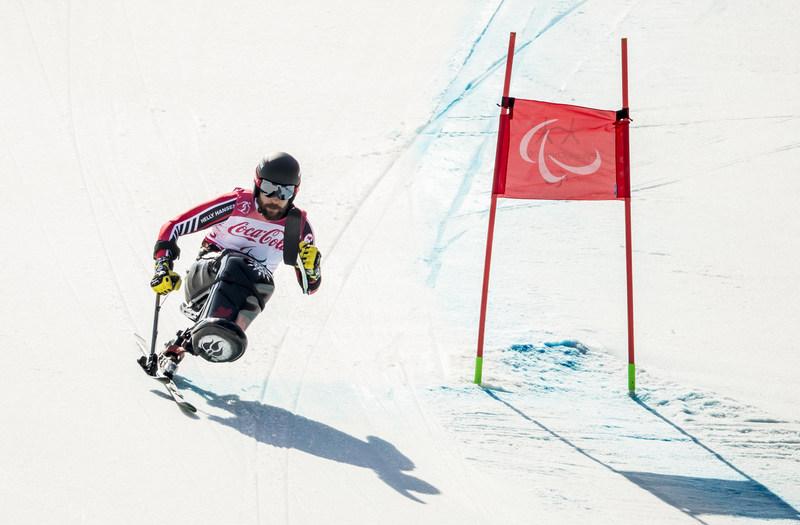 Le médaillé d'or du super-G en ski assis Kurt Oatway sera de retour sur les pentes mardi alors que l'épreuve de super combiné sera présentée au Centre alpin de Jeongseon. PHOTO: COMITÉ PARALYMPIQUE CANADIEN (Groupe CNW/Canadian Paralympic Committee (Sponsorships))