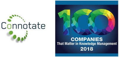 Connotate Named to KMWorld's 100 Companies that Matter in Knowledge Management of 2018:  Web Data Extraction Leader Recognized for Continued Innovation Serving the Self-service Web Extraction Market
