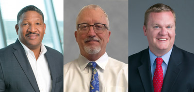 From left to right: Rod Christmon, promoted to executive director, Astellas Medical & Development Human Resources, Brian Taylor, promoted to vice president, Astellas Legal Head of Business Development/Alliance Management, and Matt Silversten, promoted to Astellas Legal Head of Litigation and Investigations