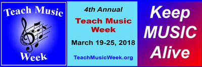 4th Annual Teach Music Week (March 19-25) - Over 600 locations in 10 countries