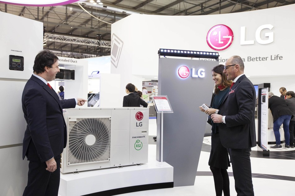 LG's Heating solution is showcased at MCE 2018.