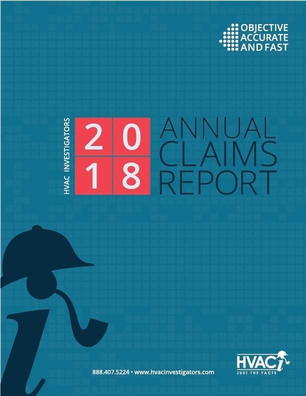 HVAC Investigators 2018 Annual Claims Report