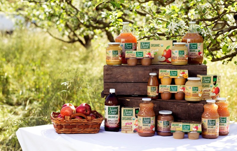 North Coast Organic's line of organic apple products