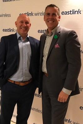 Eastlink CEO, Lee Bragg with Saint John Mayor, Don Darling (CNW Group/Eastlink)