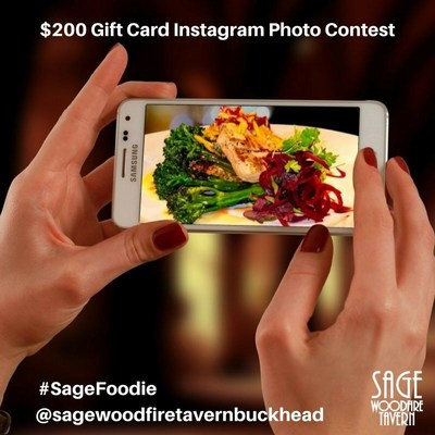 Contest Details: Sage Woodfire Tavern Buckhead is giving away a $200 Gift Card every week starting March 12, 2018 until April 12th, 2018. Visit the Sage Buckhead location herehttp://www.sagewoodfiretavern.com/buckhead/and snap your best food photo. It's easy to enter in 2 steps: 1. On Instagram, follow @sagewoodfiretavernbuckhead , 2. Post your best Sage food photo on your personal Instagram account and include the hashtag #SageFoodie(Bonus: Tag your friends for more entries.)