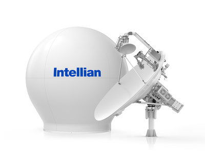 Intellian's world's first multi-orbit, tri-band antenna systems v240MT and matching 2.4m radome