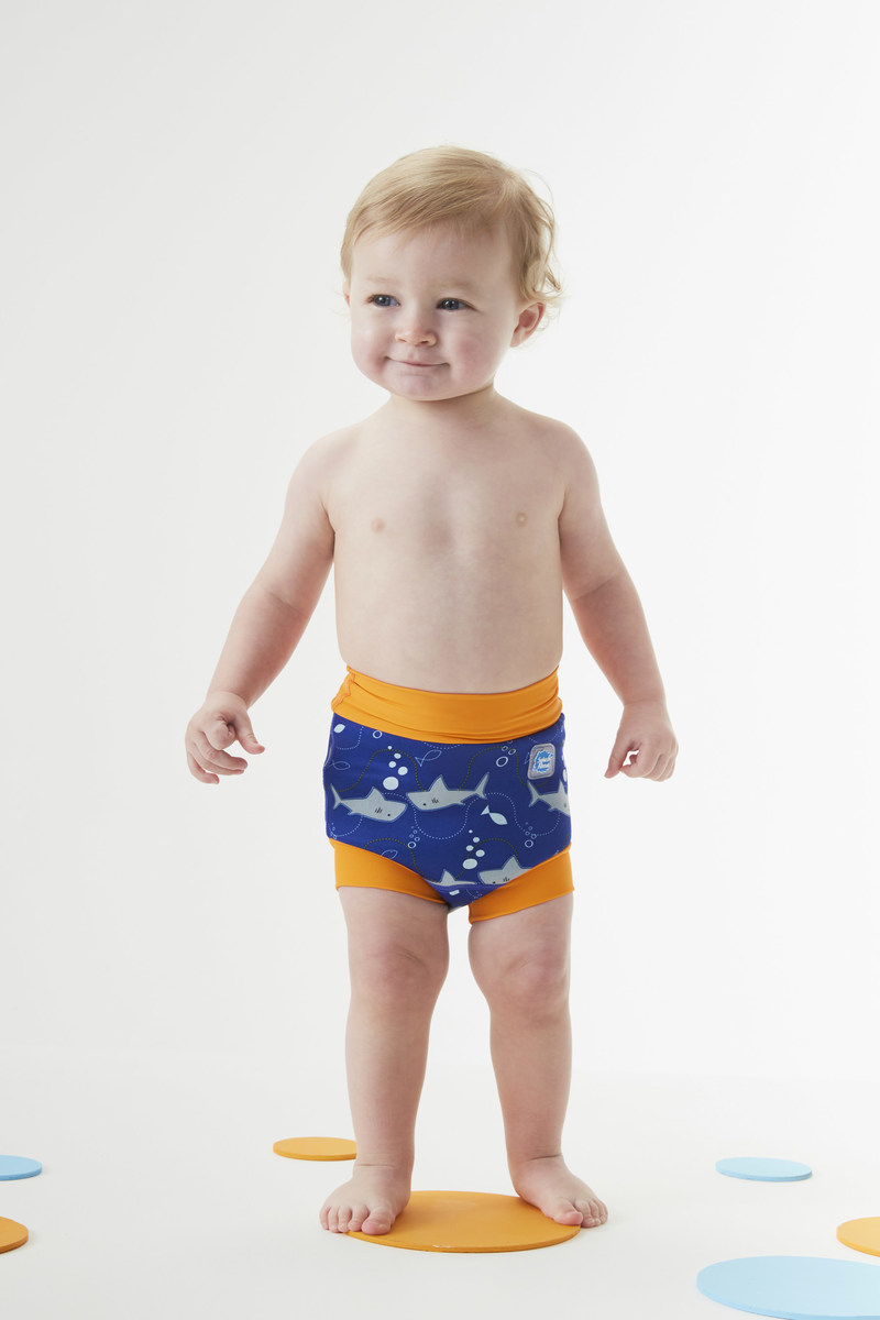 Splash About new Happy Nappy swim diaper in Shark Orange design