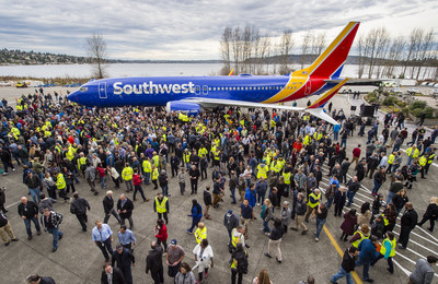 Thousands of Boeing employees at the Renton, Wash. factory celebrated the 10,000th 737 to come off the production line. The milestone was recognized by GUINNESS WORLD RECORDS(tm).