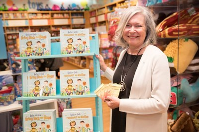 Honey Nut Cheerios launches the third year of Bring Back The Bees with new book, Bella and Jack Bring Back The Bees, penned by renowned Canadian children's book author, Paulette Bourgeois and illustrated by Josee Bisaillon. Honey Nut Cheerios will be giving away 100,000 free copies of the book nationally, through Indigo, Coles and Chapters. You can visit www.bringbackthebees.ca to redeem wildflower seeds and follow on Facebook @CheeriosCA to learn more! (CNW Group/General Mills Canada)